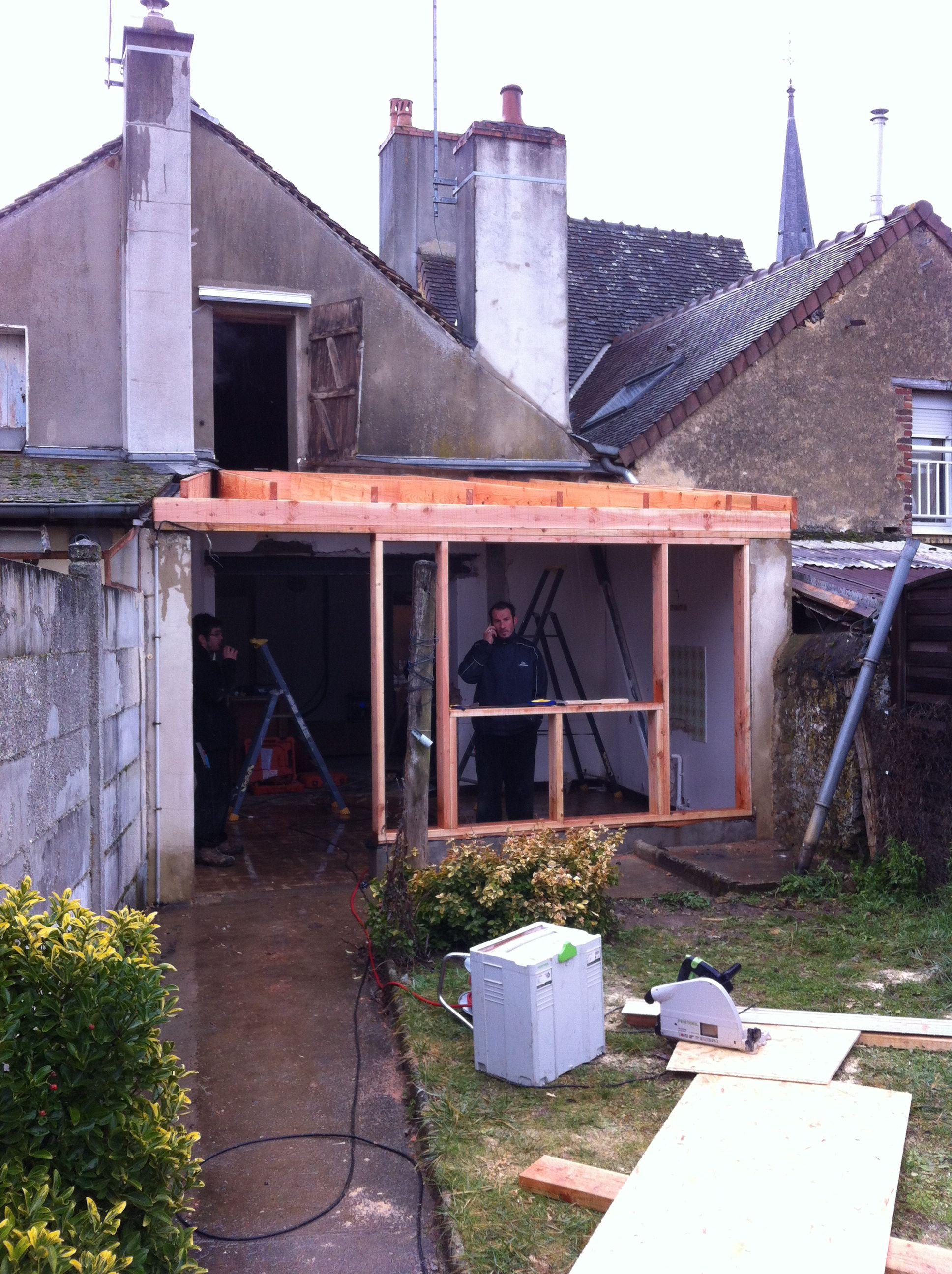 Les eco logis bois sarthe lombron construction for Agrandissement maison 45